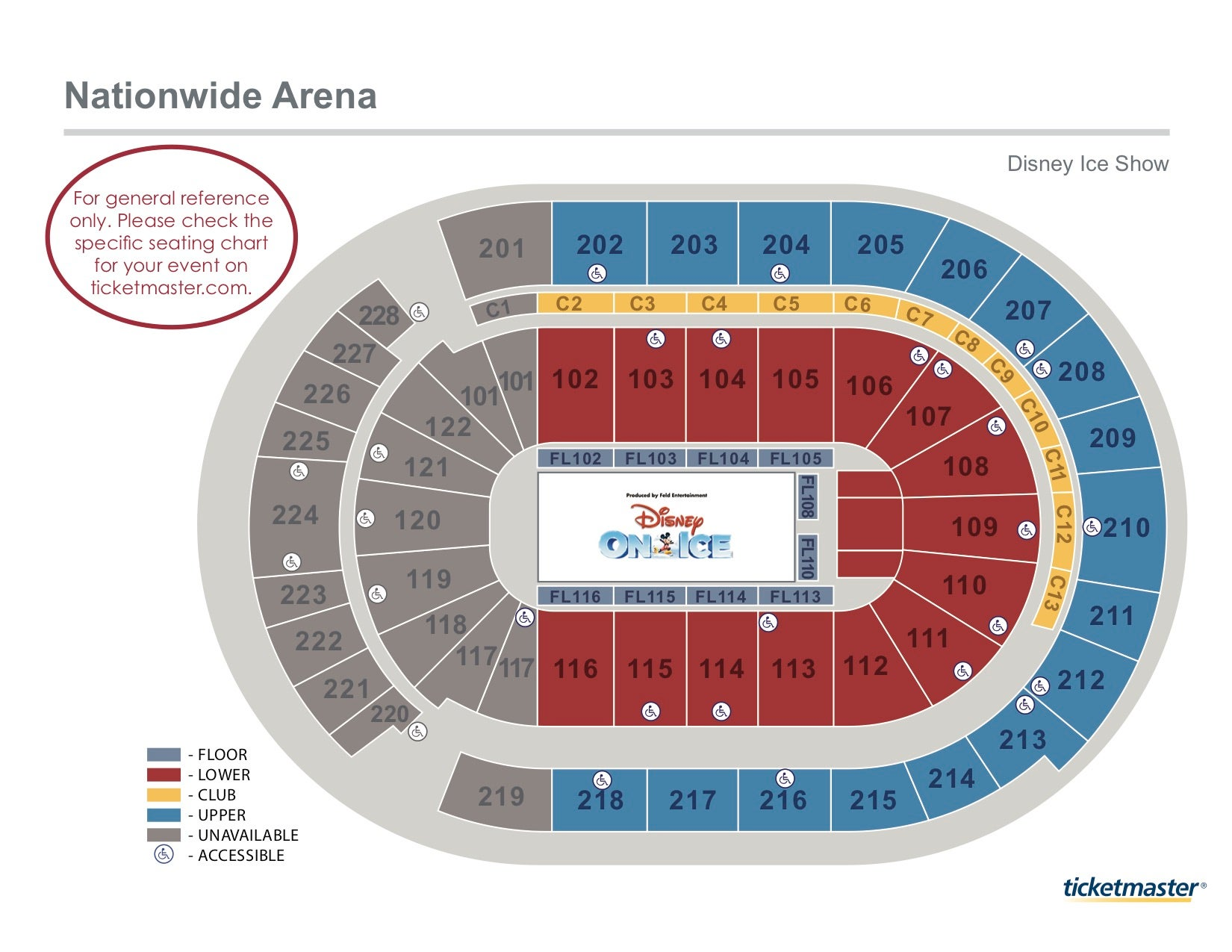 arena stage diagram honeywell actuator wiring seating charts nationwide