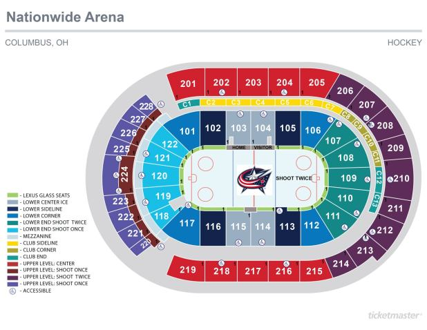 Seat Bridgestone Seating Chart Arena Numbers