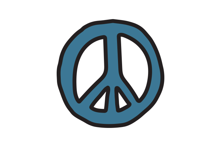 peace sign icon on
