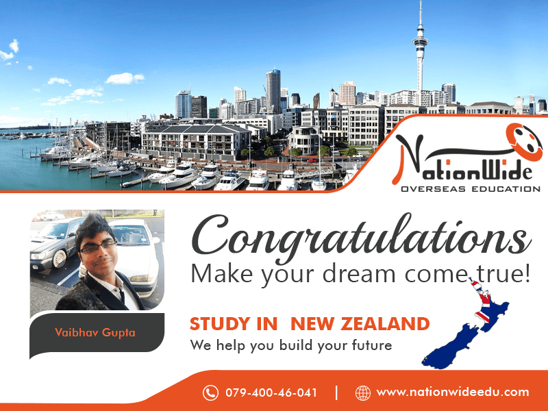 Congratulations for getting Student Visa for Overseas Study in New Zealand