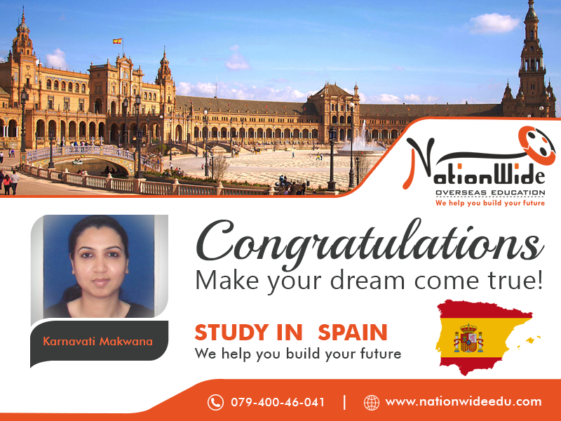 Congratulations for getting Student Visa for Overseas Study in Spain