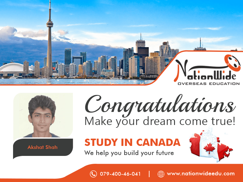 Congratulations & Bon Voyage for Overseas Education in Canada