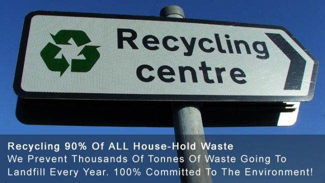 90% Of All House-Hold Waste Recycled