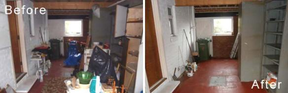 Standard House Clearance Before & After Photos