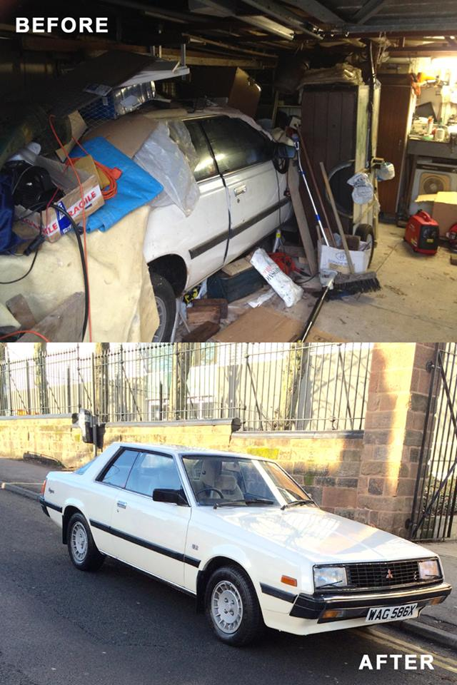House clearance Barn Find Classic Car - Before & After