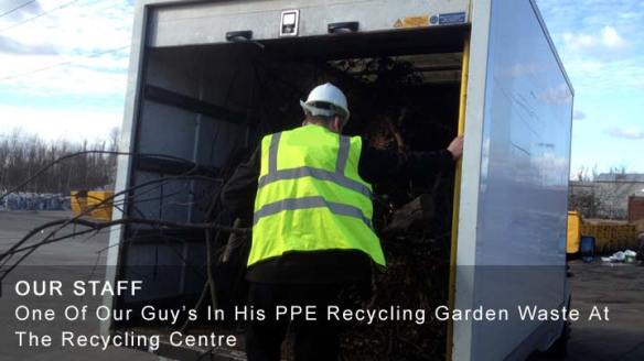 Our House Clearance Staff Unloading The Van