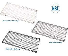 CHROME, PROFORM & BLACK WIRE SHELVING at Nationwide