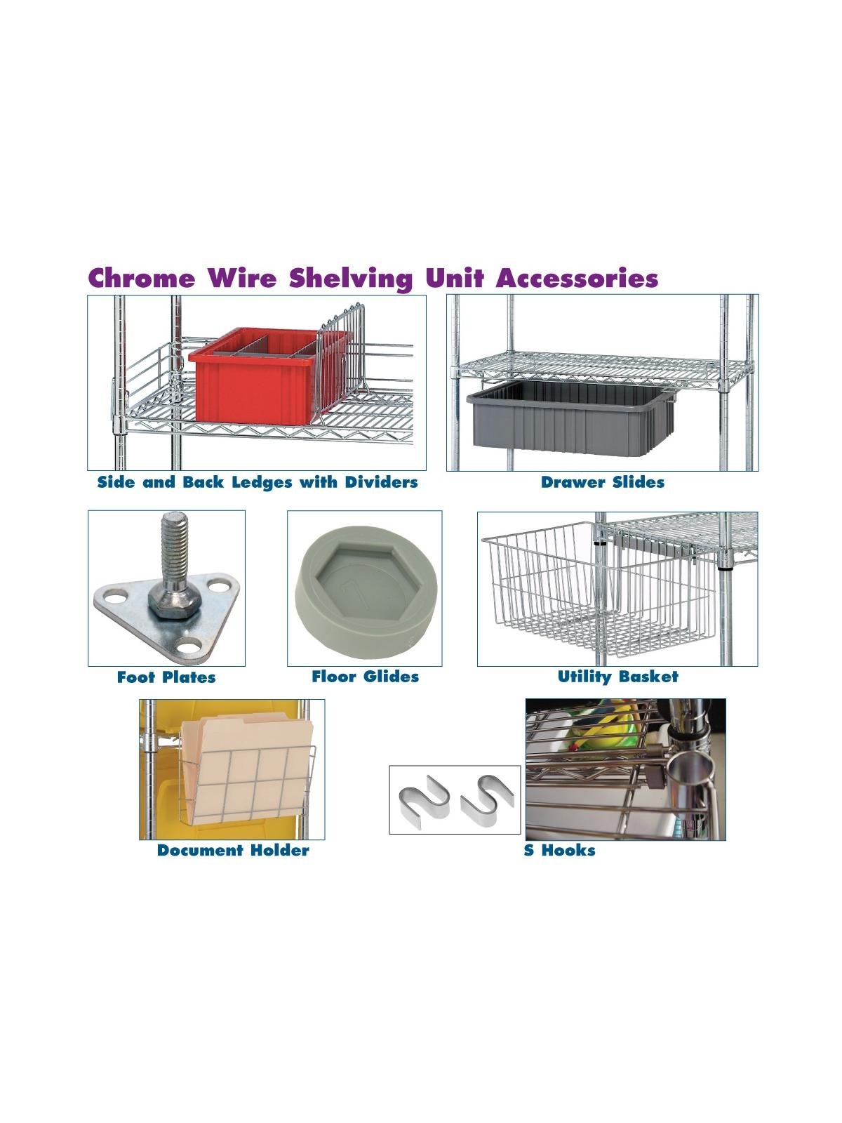 WIRE SHELVING PARTS  ACCESSORIES at Nationwide Industrial