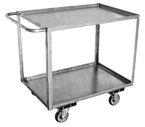 stainless kitchen cart table with corner bench and chairs steel carts nationwide industrial supply model xb 2 shelf standard handle