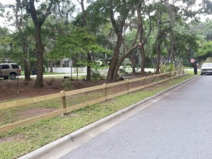 Two rail fence installation savannah georgia