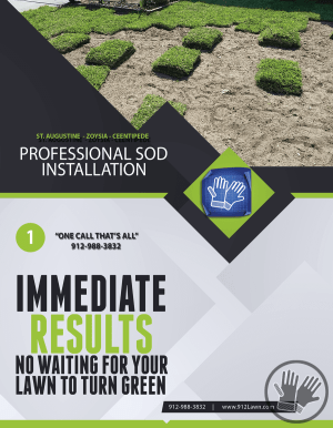 Sod Installation Flyer