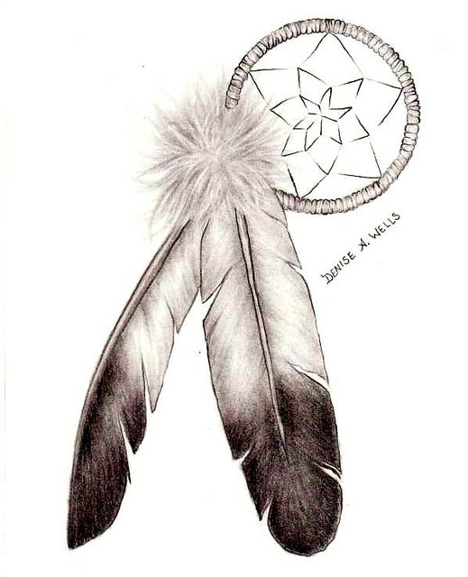 Feather Tattoo Native American