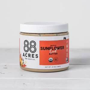 88 Acres Organic Maple Sunflower Seed Butter, 14 oz