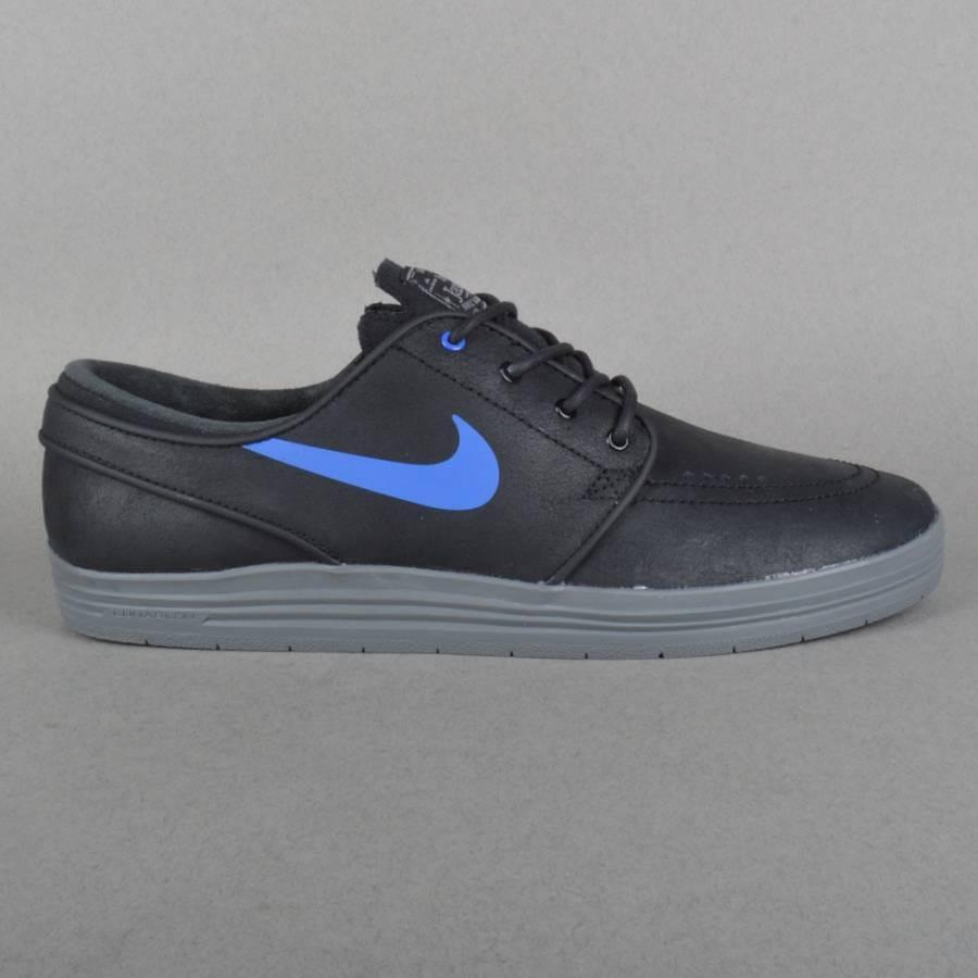 Nike SB Lunar Stefan Janoski Skate Shoes - Black/Game Royal-Cool Grey - Nike SB from Native Skate Store UK