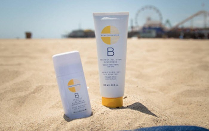 beauty counter sunblock Santa Monica California beach