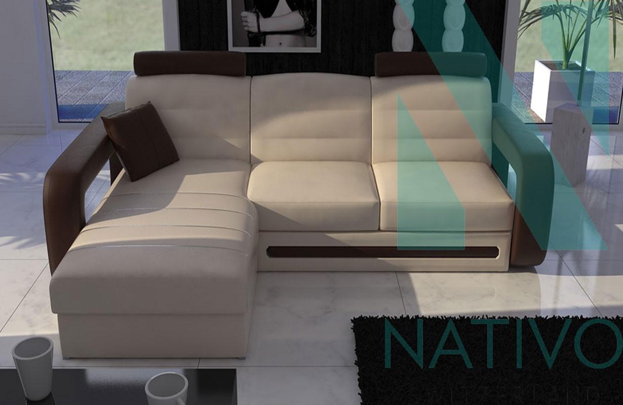 sofa erstellen corner bed olivia faux leather fabric designersofa davos mini bei nativo möbel schweiz günstig