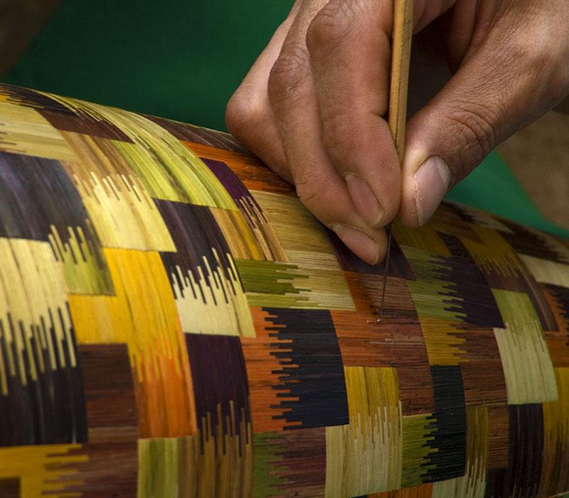 Marqueterie de paille colombienne