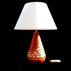 luminaires lampe en bois résine d'Amazonie Nativos