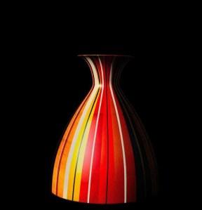 Vase en bois et résine d'Amazonie Cuello Nativos