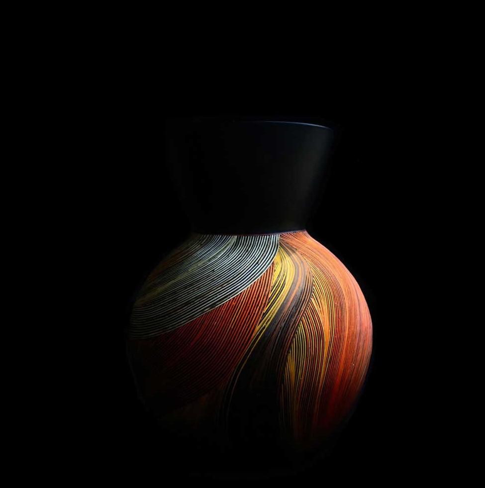 vase bois fibres de blé Nativos