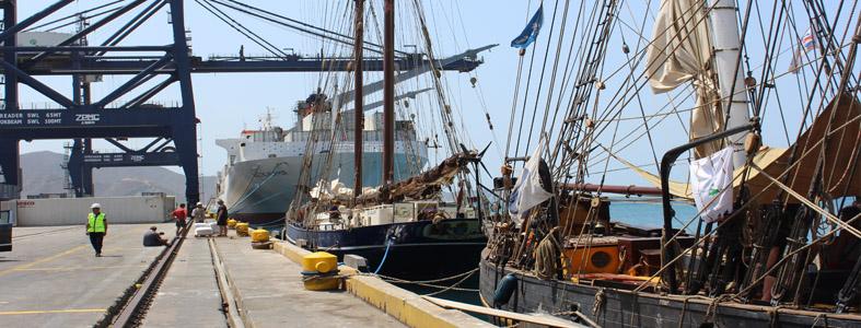 Arrivée au port de Santa Marta en Colombie du voilier Gallant