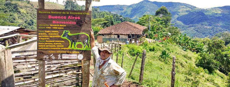Micro-lot Buenos Aires, lieu du production du café des Alizés, en Colombie