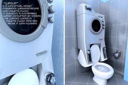 washing machine toilet
