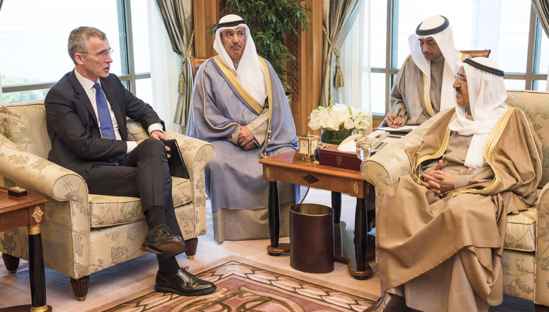 Bilateral meeting between the Emir of the State of Kuwait, His Highness Sheikh Sabah Al-Ahmad Al-Jaber Al-Sabah and NATO Secretary General Jens Stoltenberg
