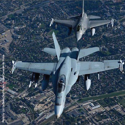 Protecting NATO airspace: Allied aircraft patrol over the Baltics and Poland.