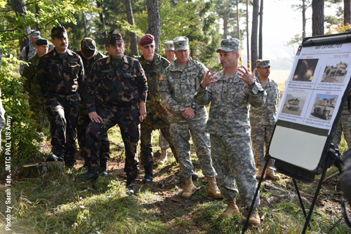 Working better together: military exercises, here led by US troops.