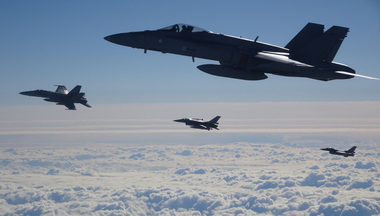 NATO - News: NATO and partner air forces train over the Baltic Sea ...