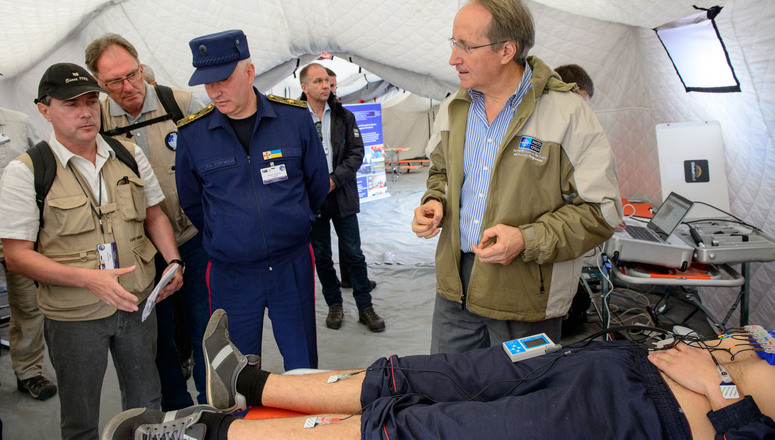 """The NATO Science for Peace and Security (SPS) Programme is supporting the development of a multinational telemedicine system. During the EADRCC field exercise """"Ukraine 2015"""" in Lviv, the telemedicine project was demonstrated and tested"""