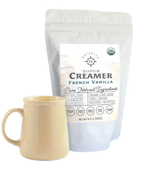 Creamer label and package
