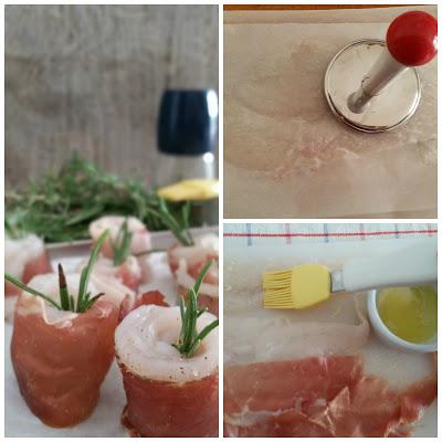 Saltimbocca di rombo con salsa di pesca esecuzione