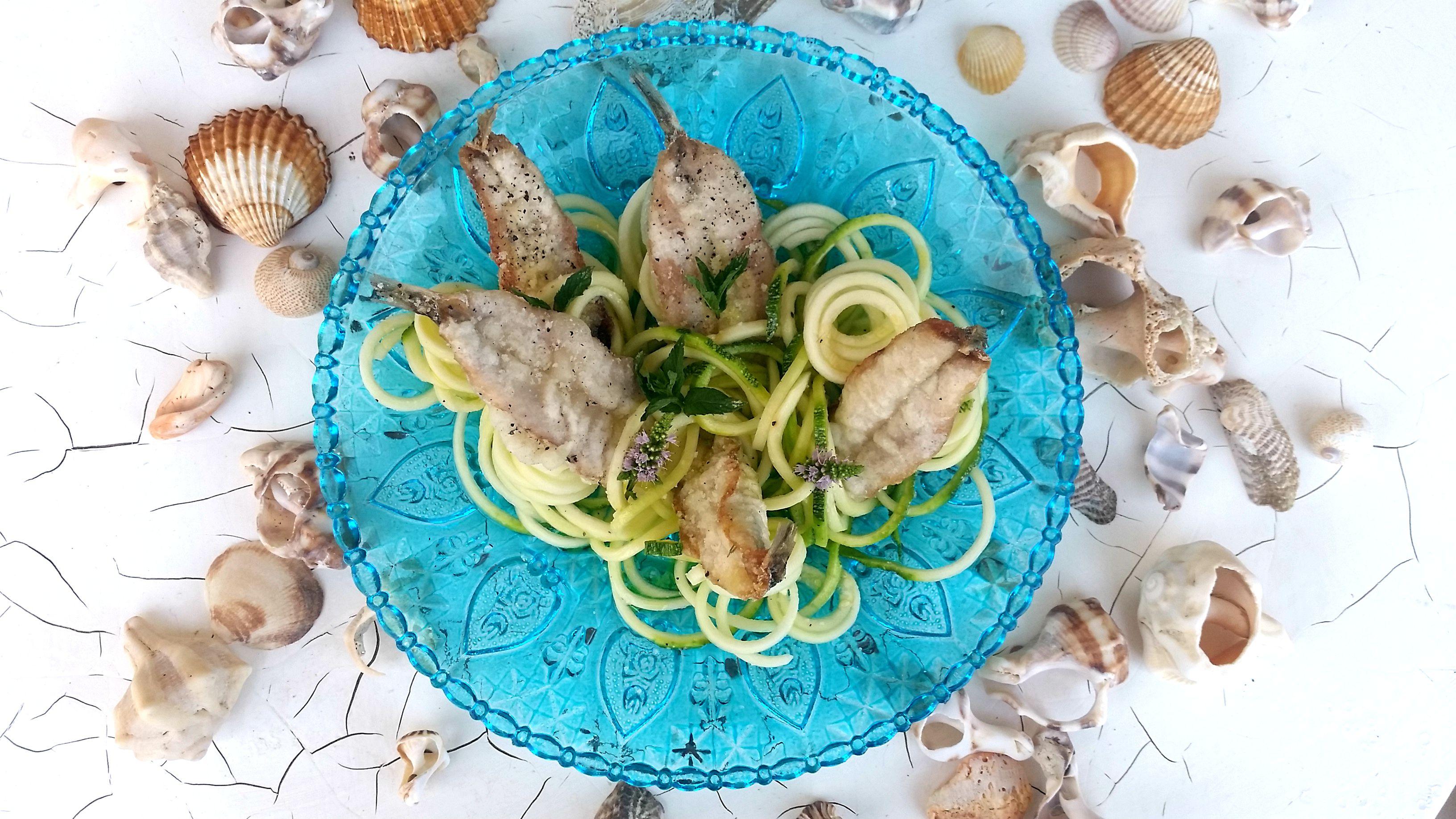 Alici in tempura cacio e pepe