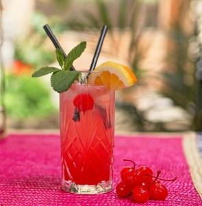 Babingtons Cherry Rose Gin Fizz
