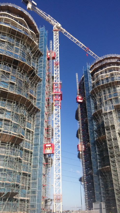 The LPAT was installed on a crane in London