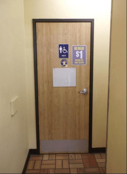 Toilet Room Signs Improperly Mounted  NATSO Blog  NATSO