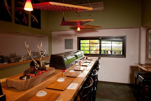 big kitchen island commercial stainless steel sink sushi bar | natsunoya tea house banquet room, private ...