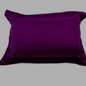 Taie d'oreiller en satin  Violet 70/50cm- Rectangle