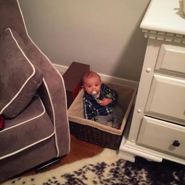 Ummm Mummy? Im down here! babylaundry