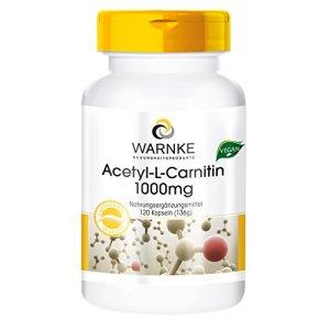 Warnke Produits de Santé Acétyl-L-Carnitine 1000mg – 120 gélules véganes