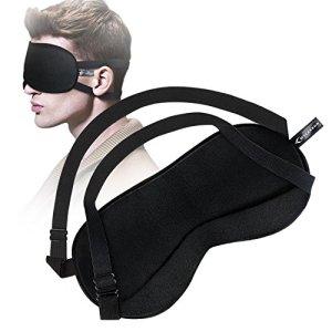Masque de Voyage MYCARBON Masque de sommeil en soie femme 100% soie, pour le Sommeil ou Voyage,Idéal pour Insomnies