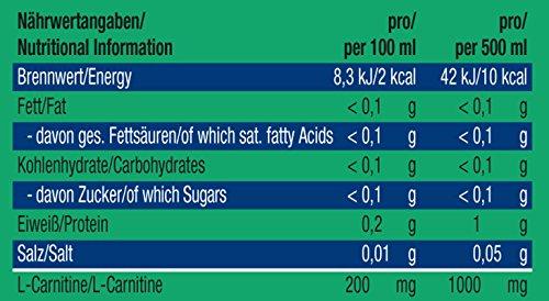 Weider – BodyShaper L-Carnitine Boisson (24 Bouteilles de 500 ml)