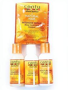 Cantu de voyage de taille Ensemble de soins Cheveux–Cantu Masque, Cantu Shampoing, Cantu Cond, Cantu Activateur