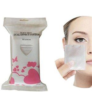 Kemai Tampons de coton doux Cosmétique, maquillage de coton mince Cosmétique Coton pour enlever les visage yeux à ongles