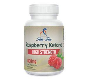 Rite-Flex Cétones de Framboises, 600 mg, 180 Capsules Végétariennes (Réserve de 6 Mois) Complémentation Haute Puissance Supporte Poids Sain