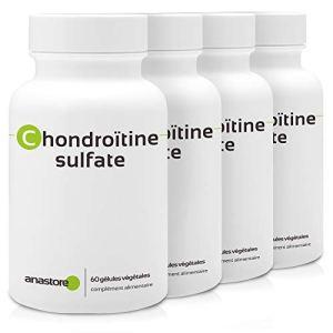 CHONDROÏTINE SULFATE * PACK 3+1 GRATUIT * 400 mg / 240 gélules * Articulations (douleurs articulaires, inflammation) * Garantie Satisfait ou Rembours * Fabriqué en France
