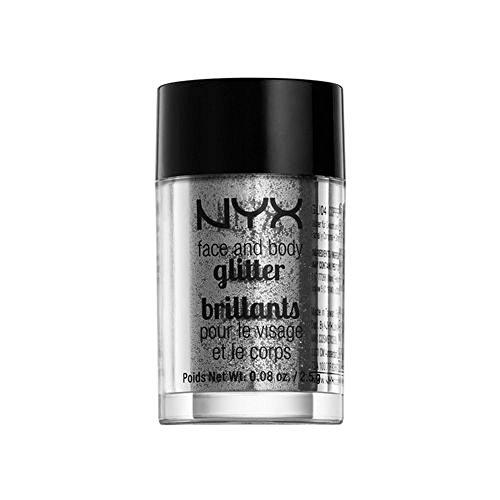 NYX Face & Body Glitter – 10 Silver