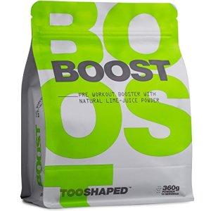 Pre-Workout Booster avec BCAA, L-citrulline, caféine, etc. – plus de résistance, d'énergie et d'endurance (booster d'entraînement) – TOOSHAPED (360g de poudre)